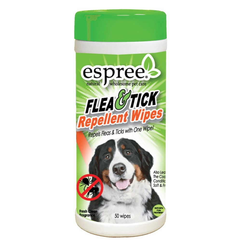 Espree Flea and Tick repellent Wipes x50