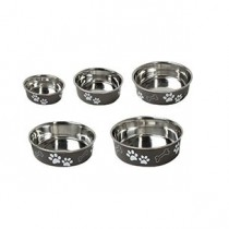 DOG DISH INOX BELLA BLACK 12CM
