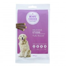 Bear's choice Sticks Fjerkræ 200gr